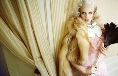 Model: Ginta Lapina Photography: Greg Kadel Fashion editors: Nicola Knels and Lynn Schmidt Photos from: Vogue Germany July 2011