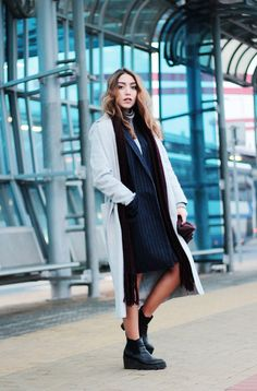 Life of an ice queen outfit by www.MarinaSays.com \\ featuring gray Mango coat