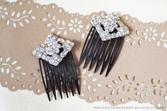 Glamorous Rhinestone Hair Combs: These handmade hair accessories like something out of a fancy bridal shop. They'll glimmer in your hair like diamonds, whether it's your special day or you just want to feel like a princess.