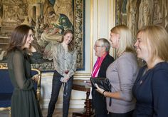 Crown Princess Mary of Denmark hosts a meeting for her Mary Foundation at Frederik VIII's mansion 9/11/2013