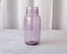 Vintage Purple Glass Bottle Sun Purple Amethyst Bottle