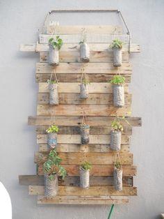 Otra idea para jardin vertical!