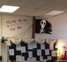 Yo ho, yo ho, a musician's life for me! Kindergarten Classroom Management, New Classroom, Classroom Themes, Class Decoration, School Decorations, School Themes, School Ideas, Pirate Day, Pirate Theme