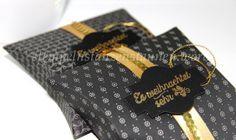 Pillow Box, Geschenkverpackung für Süßigkeiten, Schokolade, DSP Zeitlos Elegant, Timeless Elegance Designer Series Paper, Sequin Trim, Pailettenband, Gold, Fröhliche Weihnachten, Oh, What Fun, Berlin Stampin' Up!, SU   https://stempelnstanzenstaunen.wordpress.com/