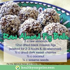 We are obsessed with these fig balls from Hell Yeah It's Vegan. Super simple and tasty this treat is perfect for holiday pot lucks!  #vegan #glutenfree #foodporn #cleanfood #healthy #healthysurprise #nutrition #soyfree #whatveganseat