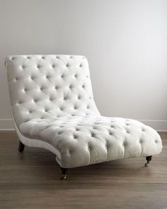 Tufted Silver Chaise by Haute House at Neiman Marcus.