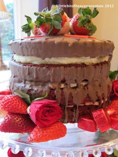 Red Velvet 'Cry me a Chocolate River' Cake.