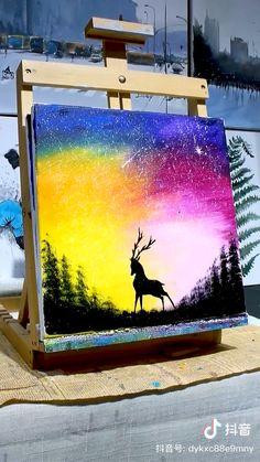Cute Canvas Paintings, Canvas Painting Tutorials, Happy Paintings, Diy Canvas Art, Oil Pastel Art, Art Painting Gallery, Wow Art, Watercolor Art, Sketches