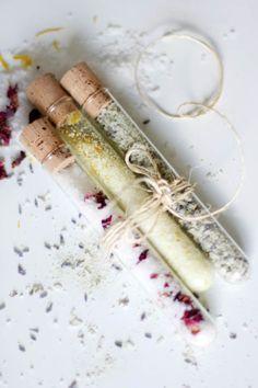 DIY Bath Salts with Sea Salt + Cocoa Butter