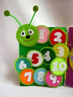 Page caterpillar of numbers Busy quiet book page Quiet#quietbok #busybook #etsytoys #feltbooks #personalized #educational #babytoy