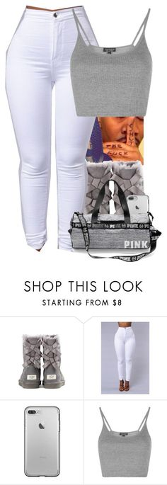 """"" by miniboogie ❤ liked on Polyvore featuring UGG Australia and Topshop"