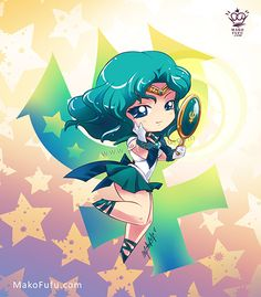 I really like her color combination xD Just have Sailor Jupiter left to do Other Sailor Moon Chibis: Sailor Mars Chibi Sailor Jupiter, Sailor Mars, Sailor Neptune, Sailor Moon Art, Sailor Pluto, Sailor Moon Crystal, Sailor Saturno, Sailor Moon Character, Pokemon