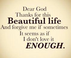 Dear God, Thank you...