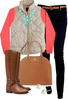 """""""Teal & Coral"""" by classically-preppy ❤ liked on Polyvore"""
