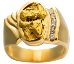 Gold nugget rings Lap of Lux Pinterest Ring Gold and Gold gold