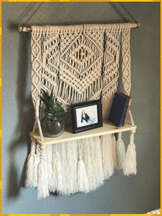 macrame/macrame anleitung+macrame diy/macrame wall hanging/macrame plant hanger/macrame knots+macrame schlüsselanhänger+macrame blumenampel+TWOME I Macrame Natural Dyer Maker Educator/MangoAndMore macrame studio Wall Hanging Shelves, Floating Shelves Bedroom, Wood Shelves, Bathroom Shelves, Wall Hangings, Shelf Wall, Ceiling Hanging, Diy Hanging, Hanging Plants