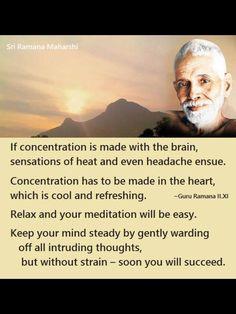 Keep your mind steady by gently warding off all intruding thoughts ~ Ramana Maharshi Buddhist Meditation, Mindfulness Meditation, Spiritual Inspiration, Life Inspiration, Buddhist Quotes, Buddhist Teachings, Ramana Maharshi, Serenity Now, Awakening Quotes