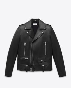 SAINT LAURENT Classic Motorcycle Jacket In Black Leather $4490.00 USD