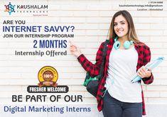 We are seeking 360 degree Digital Marketing Interns for the online marketing. Online Marketing, Digital Marketing, Internship Program, Seo Keywords, On Page Seo, Social Bookmarking, Job Offer, Ahmedabad, Training Courses