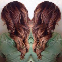 auburn hair with blonde balayage - Google Search