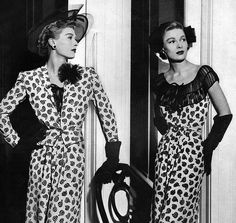 Fiercely stylishly dresses, hats and gloves from Neiman Marcus' 1944  Repinned by www.fashion.net