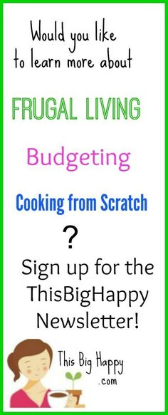 Frugal living newsletter