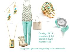 It's almost FRIDAY!! These beautiful accessories will dress up any outfit! Mint and Spring go so well together! Shop now @ www.justjewelry.com/linziepflumm