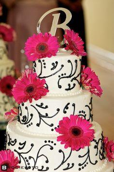 pink wedding cakes | Gerber Daisy Wedding Cake | A Wedding Cake Blog