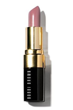 """Bobbi Brown lipstick in Pale Mauve.... My go to """"nude"""" for soft summer."""