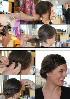 Elegant Crown Braid Tutorial - Want to do it yourself? Click on the image for the tutorial!