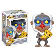 Funko Pop Disney Lion King-Rafiki with Simba Toy From Lion King, Rufiji holding baby Simba, as a stylized POP vinyl from Funko! Stylized collectable stands 3 ¾ inches tall, perfect for any Lion King fan! Collect and display all Lion King POP! Disney Pop, Simba Bebe, Baby Simba, Simba Lion, King Simba, Le Roi Lion Disney, Disney Lion King, Pop Vinyl Figures, Rocky Horror