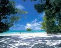 White sandy beaches in Lifou © New Caledonia Tourism