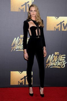 For the red carpet's major players, the MTV Movie Awards are a welcome opportunity to be a little more experimental with their look - the strict dresscodes of awards season don't apply so much at the annual ceremony. Hemlines are generally higher and beauty notes more experimental. Whose look got us talking this time round? Miss Vogue dissects the outfits of the best-dressed attendees.