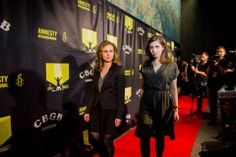 Pussy Riot on the red carpet.