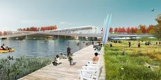 OMA + OLIN have win the competition to design the Street Bridge Park, Washington D.'s first elevated park, which will soar above Anacostia river Washington Dc, Win Competitions, Design Competitions, Landscape Architecture, Landscape Design, Park Pictures, Bridge Design, Urban Park, Urban Furniture