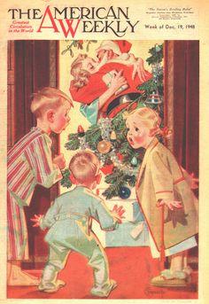 J. C. Leyendecker - The American Weekly Magazine cover (December 19, 1948)
