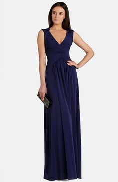 BCBGMAXAZRIA 'Sophia' Shirred Matte Jersey Gown available at #Nordstrom