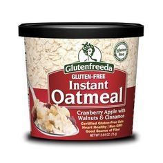 Eat a healthy breakfast even when you're pressed for time with Glutenfreeda's g-free oatmeal cups.