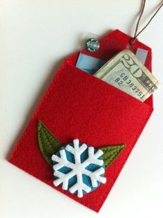 Christmas Tree Gift Card Holders