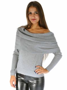 MICHAEL Michael Kors | Cowl-Neck Sweater in grey www.sabrinascloset.com