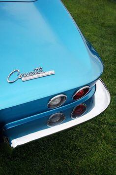 Blue Classic Corvette