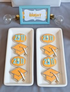 Graduation Party-Bright Idea with light bulbs. So cute and clever