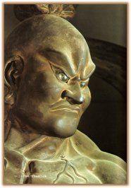 Nio – i Guardiani del Tempio   Tanto tanto keiko.Naraen Kongō è detto Ungyō (anche lui per il suono emesso a bocca chiusa) è rappresentato a mani nude o armato di spada ed simbolo della forza latente che dimostra attraverso la sua mano vuota e la bocca chiusa, a significare che anche non si vede il colpo e non si sente la voce lui sta già agendo per fermare i malvagi ed è talmente forte e pronto ad agire senza timori che non ha bisogno di armi o violenza evidente.