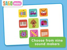 Sago Mini Sound Box - Fun sounds for infants, toddlers and preschool aged children for iPad iPhone - a musical toy with extra features. 9 sound sets (instruments, animals, vehicles etc). Preschool Age, Free Preschool, Iphone 3, Literacy Skills, Early Literacy, Ipod Touch, Educational Apps For Toddlers, Toddler Apps, Baby Apps