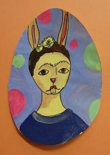 Egg Artiste - great art project for Easter!