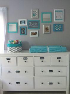 Tiffany blue nursery idea