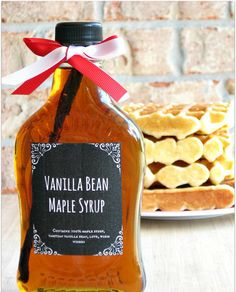 Give friends and family homemade syrup for the holidays.