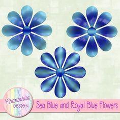 Free digital flower embellishments for your digital scrapbooking and other digital crafts.