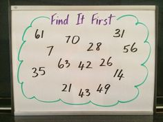 Find It First - a simple math game for multiplication facts! Are You Game? Mastering Multiplication Facts with Games!