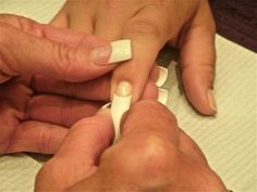 2012 Event- learn how to properly size a tip so it fits with no lifting, splitting or popping off compliments of Backscratcher educator Leaha Franks!  www.nailtechevent.com #nailtechevent #nailtech